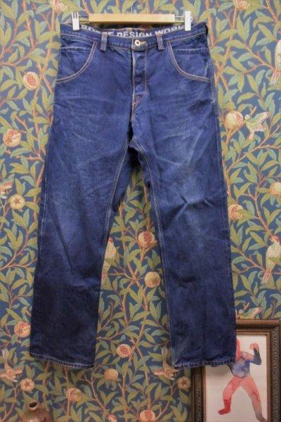 画像1: BOOZE DESIGN WORKS  藍染デニムpants 3年物 34インチ(実寸)
