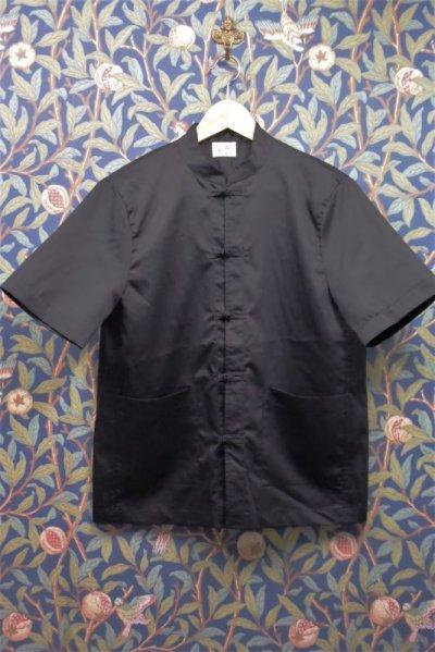 画像1: BOOZE カンフー半袖コットンシルクシャツ(レディースあり)