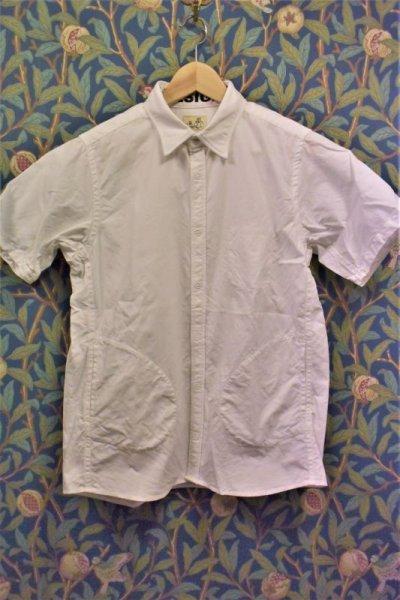 画像1: BOOZE  シャトル織機ホワイトオックスフォード 定番半袖シャツ
