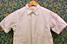 画像1: BOOZE  シャトル織機ホワイトオックスフォード 定番半袖シャツ (1)