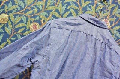 画像2: BOOZE  Oxford Gathered Shirt(ギャザーシャツ シャトル織機ブルーオックスフォード)