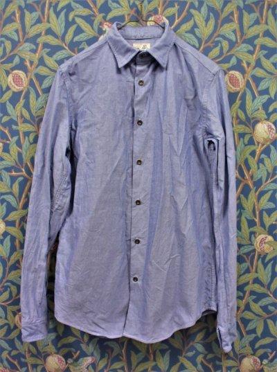 画像1: BOOZE  Oxford Gathered Shirt(ギャザーシャツ シャトル織機ブルーオックスフォード)