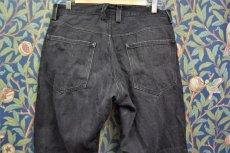 画像2: BOOZE DESIGN WORKS  ブラックデニムpants 2年物補修あり 33〜34インチ(実寸) (2)