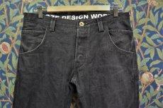 画像1: BOOZE DESIGN WORKS  ブラックデニムpants 2年物補修あり 33〜34インチ(実寸) (1)