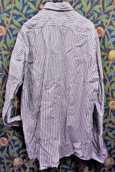 画像3: BOOZE Distortion Pocket Shirt(シャトル織機歪みストライプオックスフォードシャツ)