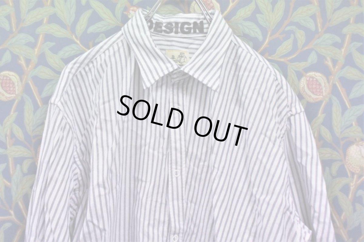 画像1: BOOZE Distortion Pocket Shirt(シャトル織機歪みストライプオックスフォードシャツ)  (1)