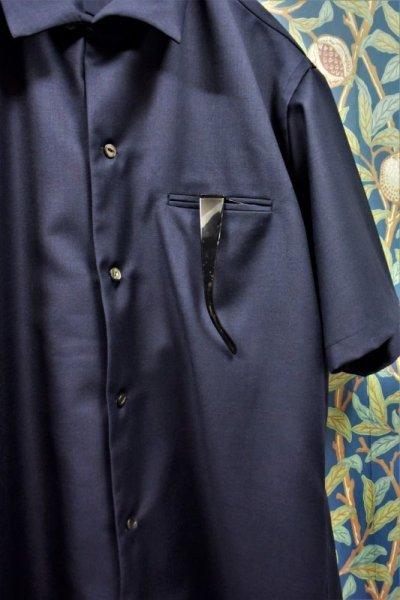画像2: BOOZE  Open Collar Shirt(生地HOLLAND&SHERRY 開襟シャツ)