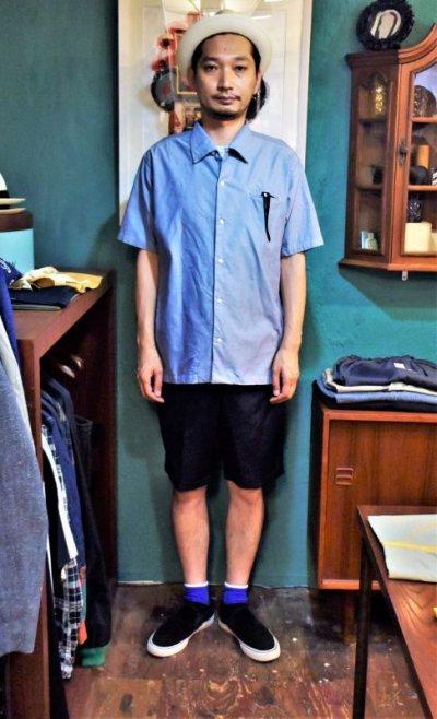 画像3: BOOZE  Open Collar Shirt(シャトル織機ブルーオックスフォード開襟シャツ)