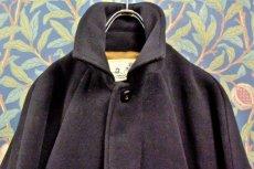 画像2: BOOZE  Fly Front Raglan Coat(ショート丈ステンカラーコート裏地ウールシルク)衿微調整版 (2)
