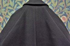 画像3: BOOZE  Fly Front Raglan Coat(ショート丈ステンカラーコート裏地ウールシルク)衿微調整版 (3)