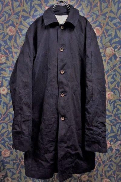 画像1: BOOZE  Raglan Half Coat(2度染めデニムミドル丈ステンカラーコート)衿微調整版