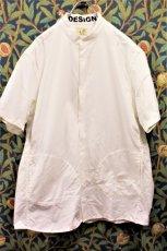 画像2: BOOZE  Stand Collar Shirt(シャトル織機ホワイトオックスフォード) (2)
