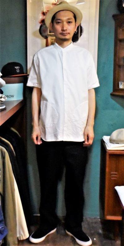 画像2: BOOZE  Stand Collar Shirt(シャトル織機ホワイトオックスフォード)
