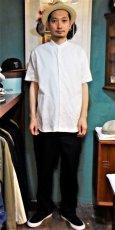 画像6: BOOZE  Stand Collar Shirt(シャトル織機ホワイトオックスフォード) (6)