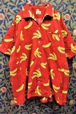 画像2: BOOZE  Open Collar Shirt(バナナ+ドット柄開襟シャツ) (2)