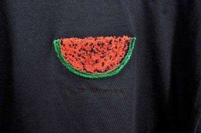 画像2: BOOZE スイカ刺繍Tシャツ(アートワーク中村穣二)