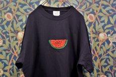画像1: BOOZE スイカ刺繍Tシャツ(アートワーク中村穣二) (1)
