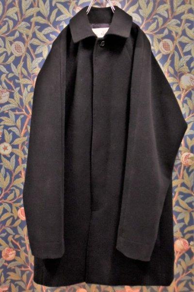 画像1: BOOZE  Fly Front Raglan Half Coat(ミドル丈ステンカラーコート裏地甲州織)衿微調整版