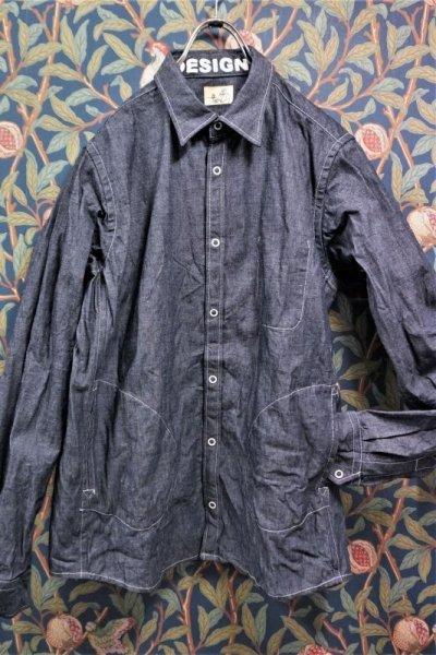 画像1: BOOZE Pocket Shirt(ダンガリーシャツ)