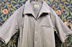 画像1: BOOZE  Open Collar Shirt(シアサッカー開襟シャツ) (1)