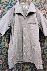 画像2: BOOZE  Open Collar Shirt(シアサッカー開襟シャツ) (2)