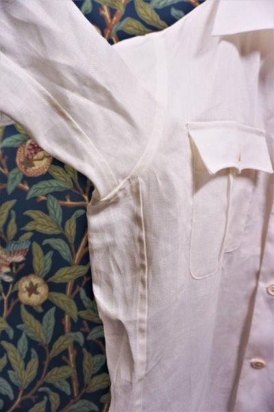 画像2: BOOZE Open Collar Shirt(麻オープンカラーシャツ)