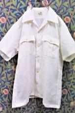 画像2: BOOZE Open Collar Shirt(麻オープンカラーシャツ) (2)