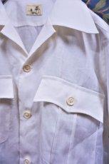 画像3: BOOZE Open Collar Shirt(麻オープンカラーシャツ) (3)