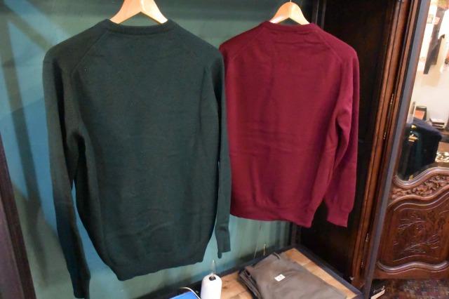 画像2: CORDINGS Vネックウールセーター