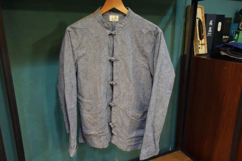 画像1: BOOZE カンフー起毛シャンブレーシャツ(レディースあり)