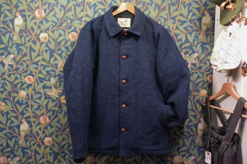 画像1: BOOZE  ウールジャケット(レザーボタン裏地キルティング) 特別価格品(残りXLのみ)