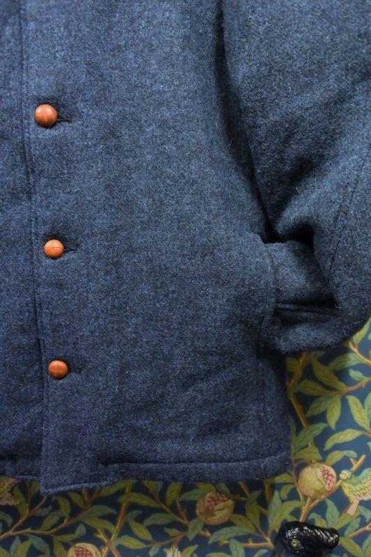 画像2: BOOZE  ウールジャケット(レザーボタン裏地キルティング) 特別価格品(残りXLのみ)