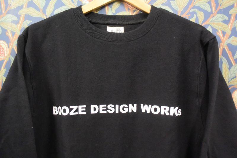 画像1: BOOZE ロゴ12オンス裏起毛スエット(サイドパネルタイプ) (1)