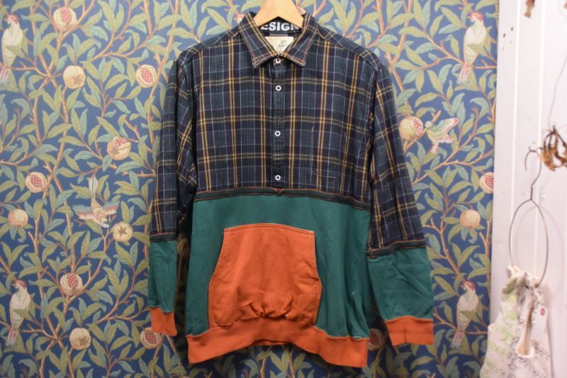 画像1: BOOZE  フランケンシリーズ 一点物シャツ 身幅XL丈L (1)