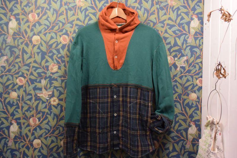 画像1: BOOZE  フランケンシリーズ 一点物シャツ 身幅XL丈M