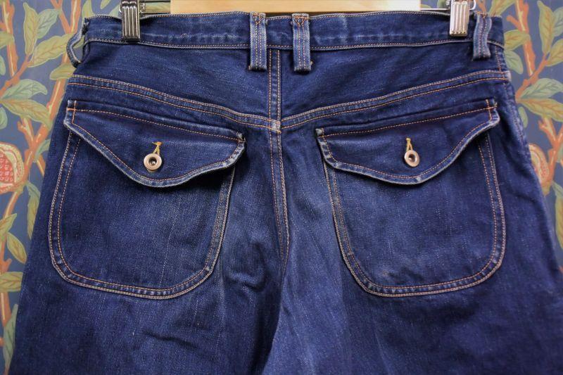 画像2: BOOZE DESIGN WORKS  藍染デニムpants 3年物 34インチ(実寸)