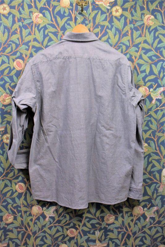 画像2: BOOZE  シャトル織機グレーオックスフォード定番シャツ (生地廃盤の為最終生産になります)