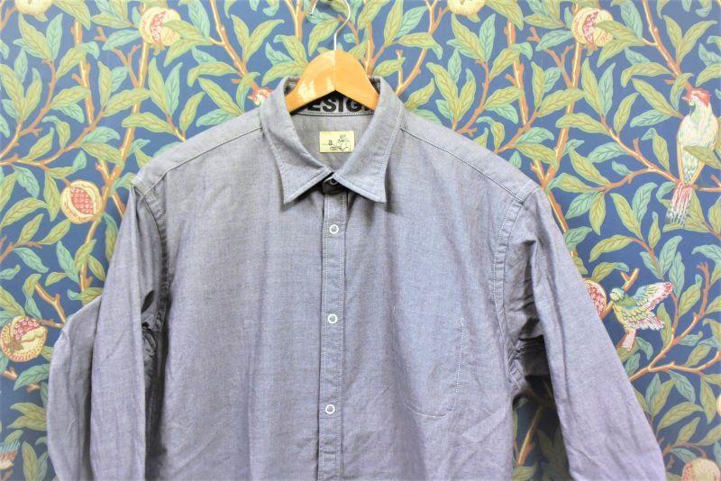 画像1: BOOZE  シャトル織機グレーオックスフォード定番シャツ (生地廃盤の為最終生産になります)