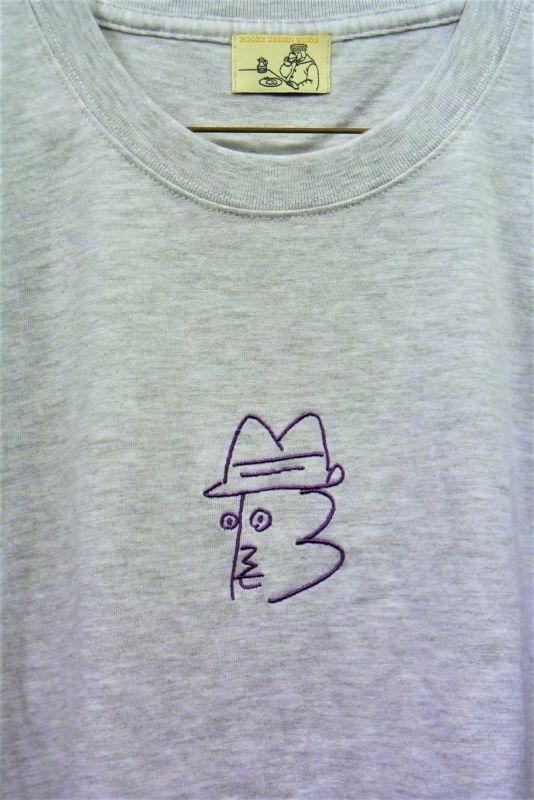 画像2: BOOZE ニューロゴ紫刺繍Tシャツ アートワーク中村穣二
