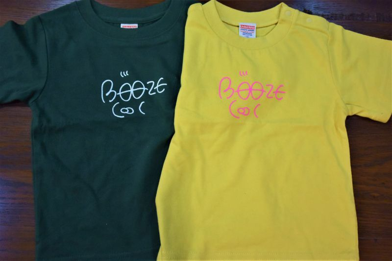 画像1: BOOZE  バブーロゴプリント キッズTシャツ