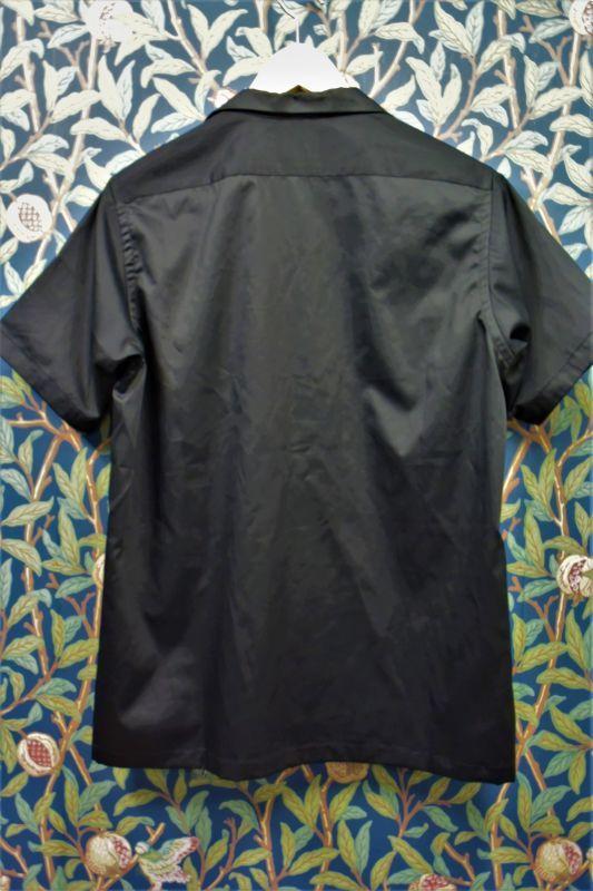 画像2: BOOZE  V飾りテープ コットンシルク開襟シャツ