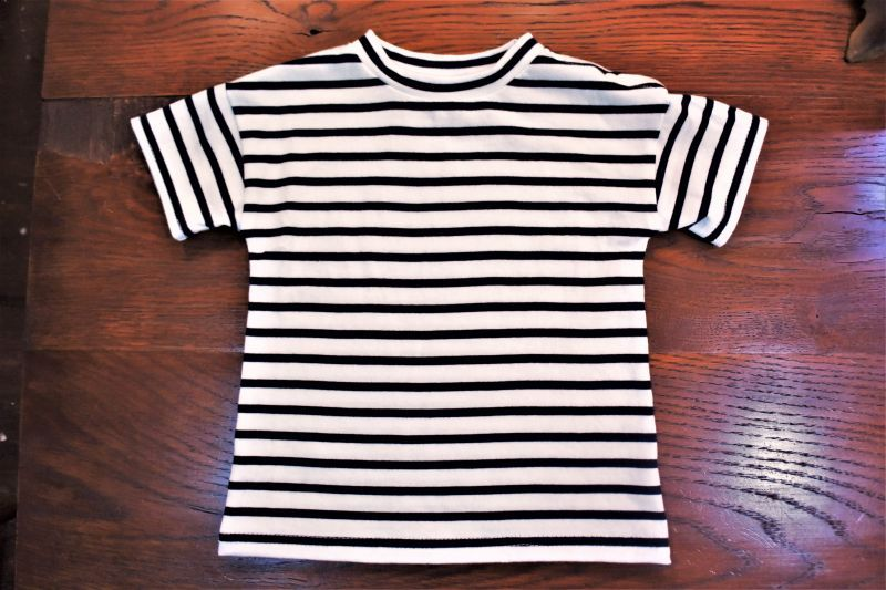 画像1: BOOZE  キッズ ボーダーTシャツ (1)