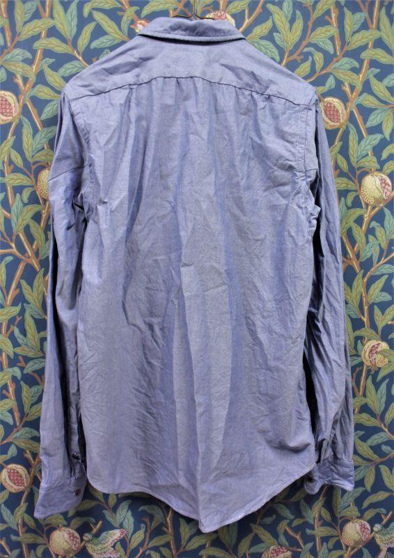 画像2: BOOZE  ギャザーシャツ シャトル織機ブルーオックスフォード