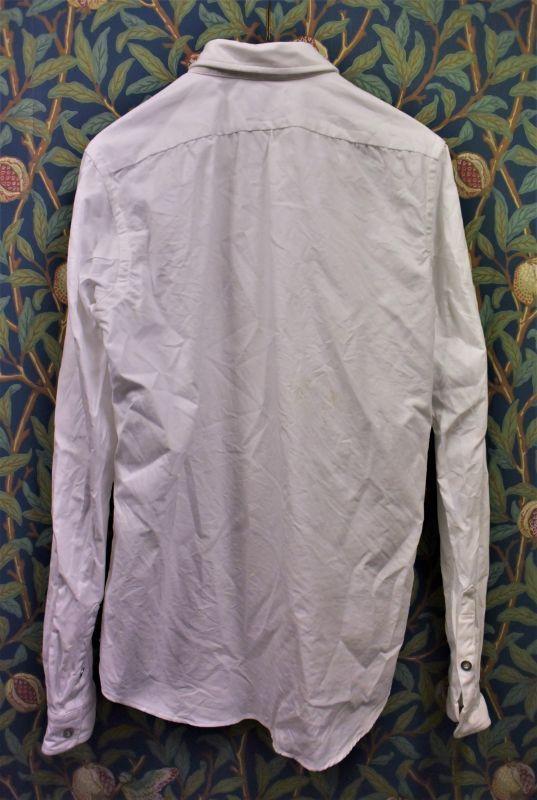 画像3: BOOZE  ギャザーシャツ シャトル織機ホワイトオックスフォード