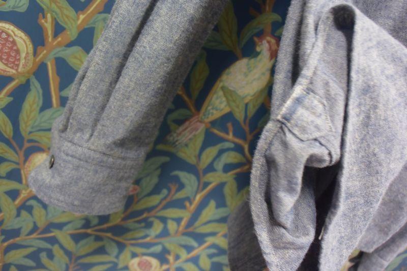 画像2: BOOZE  ギャザーシャツ 起毛シャンブレー