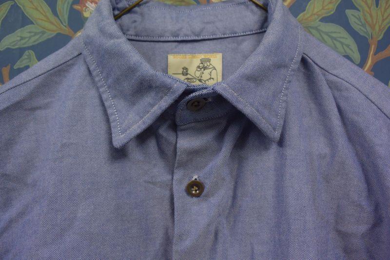 画像3: BOOZE  ギャザーシャツ シャトル織機ブルーオックスフォード