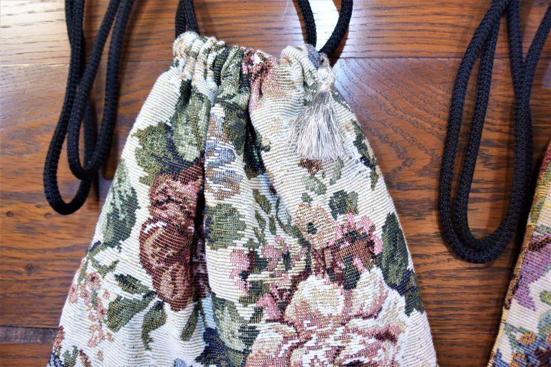 画像3: 肩掛け巾着袋 ゴブラン生地