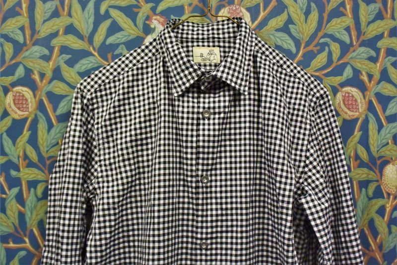 画像1: BOOZE  Gathered Shirt(綾織りギンガムチェックギャザーシャツ) (1)