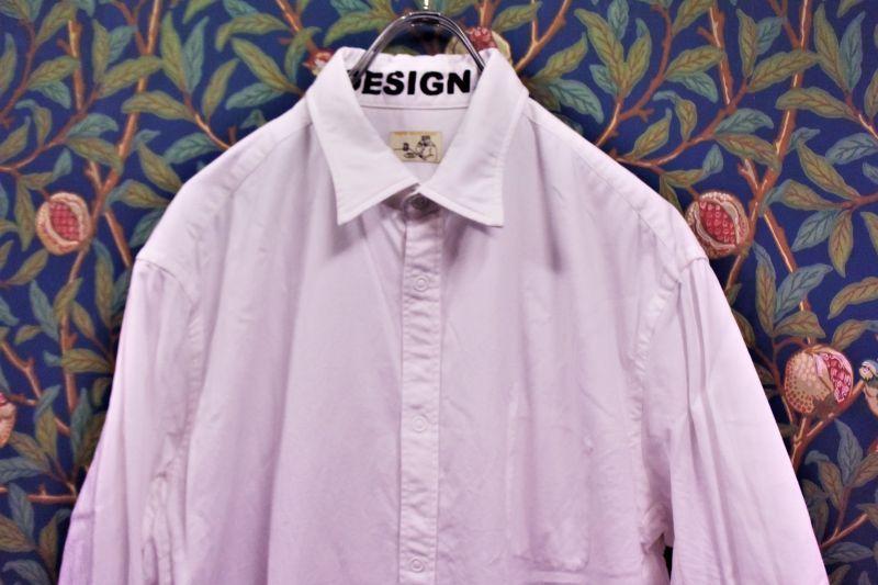 画像1: BOOZE Pocket Shirt(シャトル織機ホワイトオックスフォードシャツ)  (1)