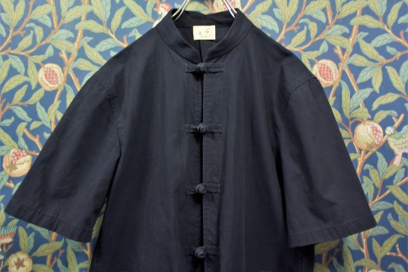画像1: BOOZE カンフー半袖セットアップL(古着) (1)